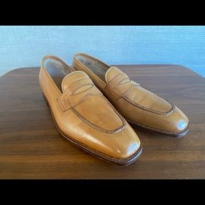 John Lobb Ashley Loafers - Havana Brown - size 10